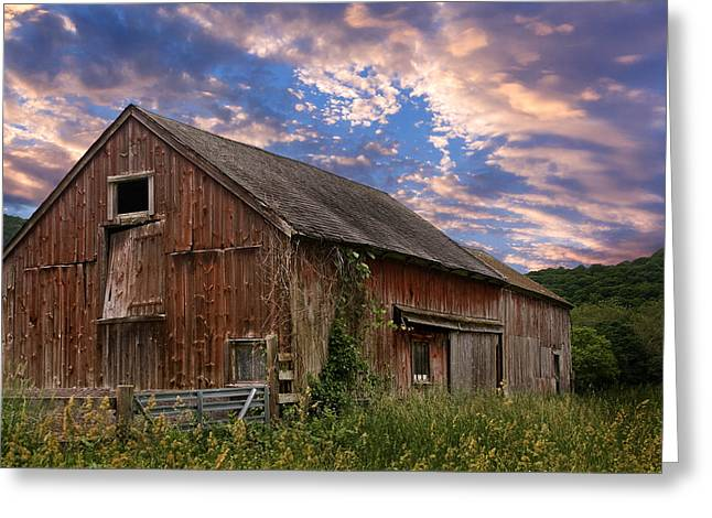 Old Barns Greeting Cards - Old New England Barn Greeting Card by Bill  Wakeley