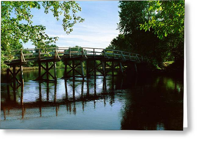 Concord. Historic Greeting Cards - Old North Bridge Greeting Card by Jo Ann Snover