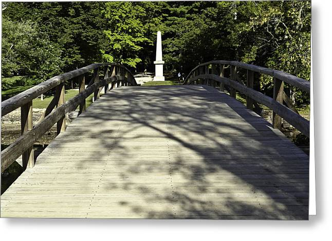 Concord Greeting Cards - Old North Bridge Over the Concord Greeting Card by Danny Vaughn