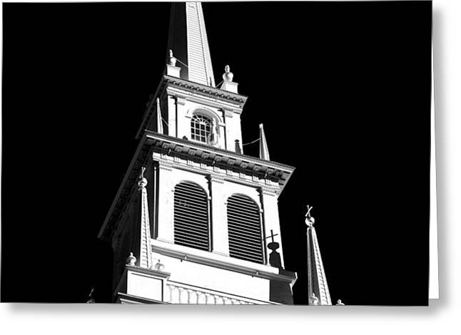 Old North Church Star Greeting Card by John Rizzuto