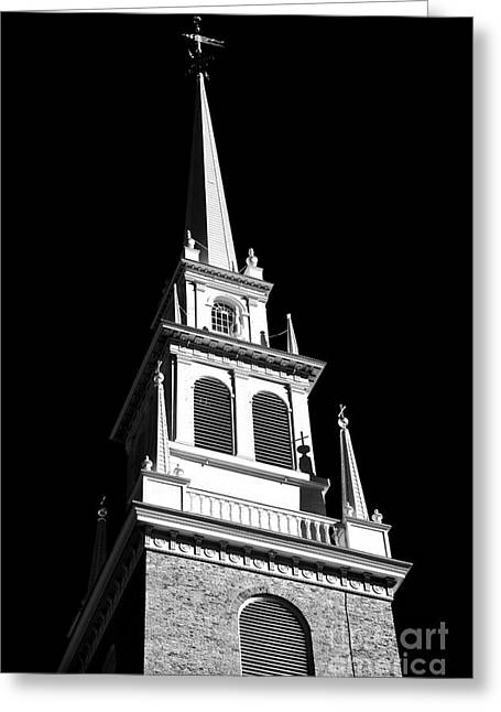 North Italian Town Greeting Cards - Old North Church Star Greeting Card by John Rizzuto