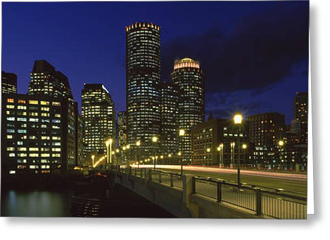 Old Northern Avenue Bridge Greeting Card by Panoramic Images