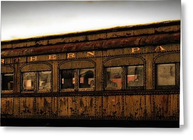 Historic Vehicle Mixed Media Greeting Cards - Old Northern Pacific  Greeting Card by Todd and candice Dailey