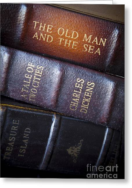 Old Man And The Sea Greeting Cards - Old Novels Greeting Card by Brian Jannsen