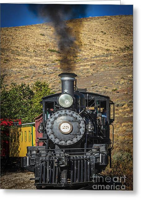 Old Caboose Greeting Cards - Old Number 25 Greeting Card by Mitch Shindelbower