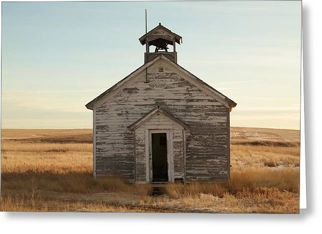 School Houses Photographs Greeting Cards - Old one room Schoolhouse Greeting Card by Jeff  Swan
