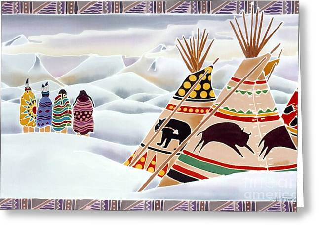 Native Art Greeting Cards - Old Ones Search the Sky Greeting Card by Harriet Peck Taylor