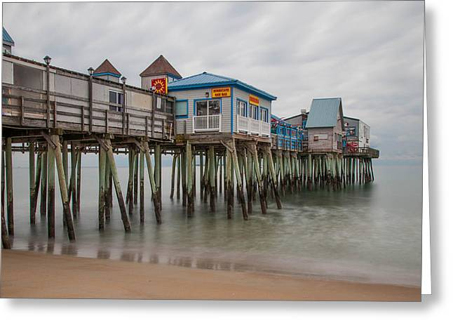 Ocen Landscape Greeting Cards - Old Orchard Beach Greeting Card by Guy Whiteley