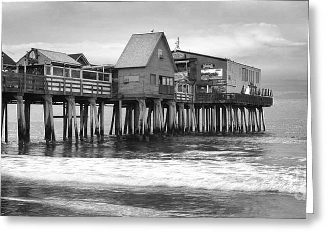 Old Maine Houses Greeting Cards - Old Orchard Beach Greeting Card by Isabel Poulin