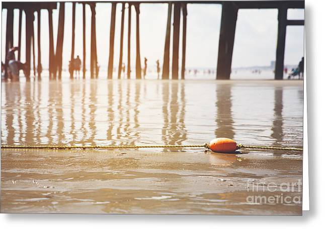 Maine Beach Greeting Cards - Old Orchard beach Greeting Card by Jane Rix