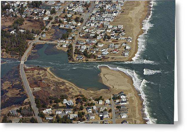 Maine Beach Greeting Cards - Old Orchard Beach, Maine Greeting Card by Dave Cleaveland