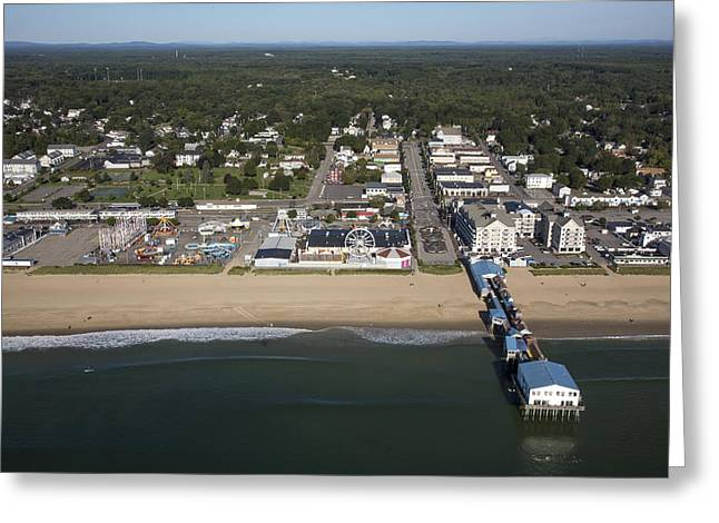 Maine Beach Greeting Cards - Old Orchard Beach, Maine Me Greeting Card by Dave Cleaveland