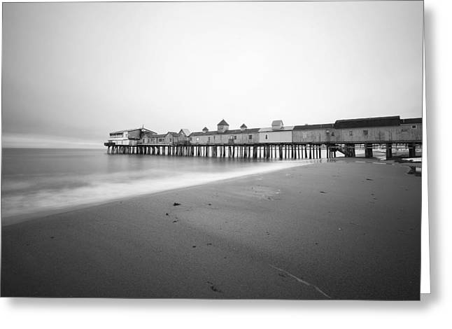 Canon 5d Mark Ii Greeting Cards - Old Orchard Beach Pier Greeting Card by Eric Gendron