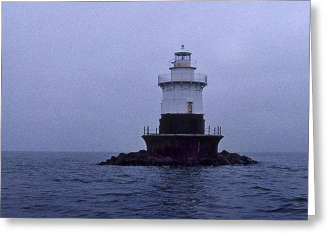 OLD ORCHARD LIGHTHOUSE Greeting Card by Skip Willits