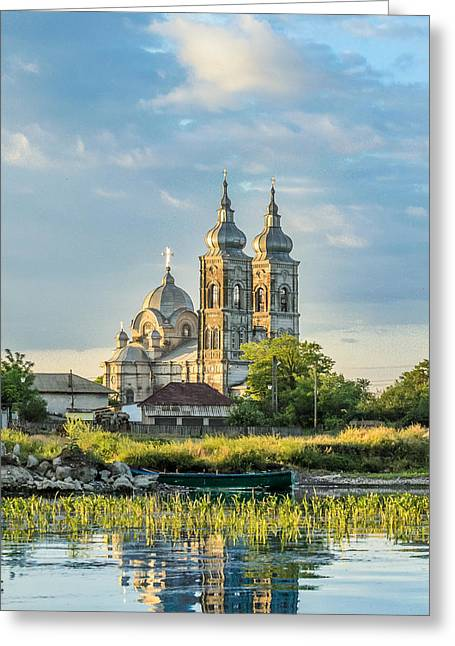 View Pyrography Greeting Cards - Old orthodox church in Danube Delta Greeting Card by Attila Simon