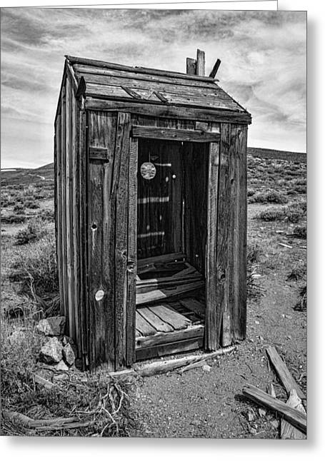 Ghost Town Greeting Cards - Old Outhouse Greeting Card by Garry Gay