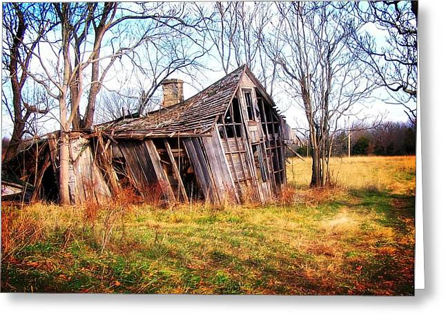 Marty Koch Greeting Cards - Old Ozark Home Greeting Card by Marty Koch