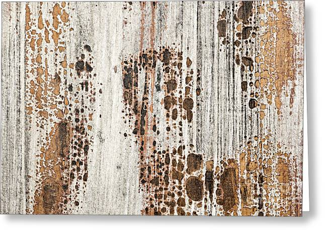 Peeling Greeting Cards - Old painted wood abstract No.2 Greeting Card by Elena Elisseeva