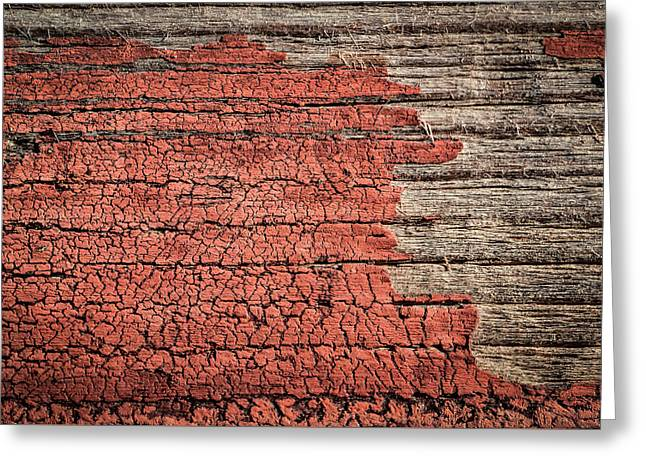 Bordo Greeting Cards - Old Painted Wood Greeting Card by Jozef Jankola