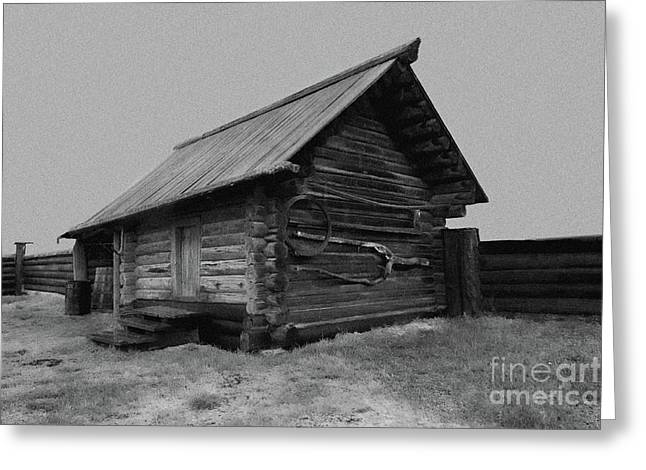 Old Peasant House 2 Greeting Card by Evgeniy Lankin