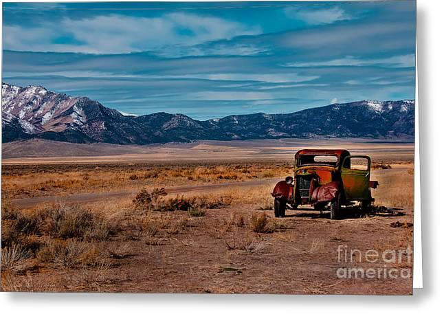Old Pickup Greeting Card by Robert Bales