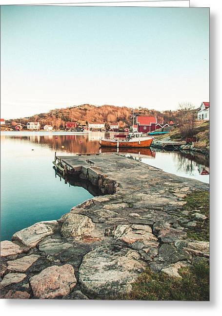 Kjg Greeting Cards - Old pier and boats Greeting Card by Mirra Photography