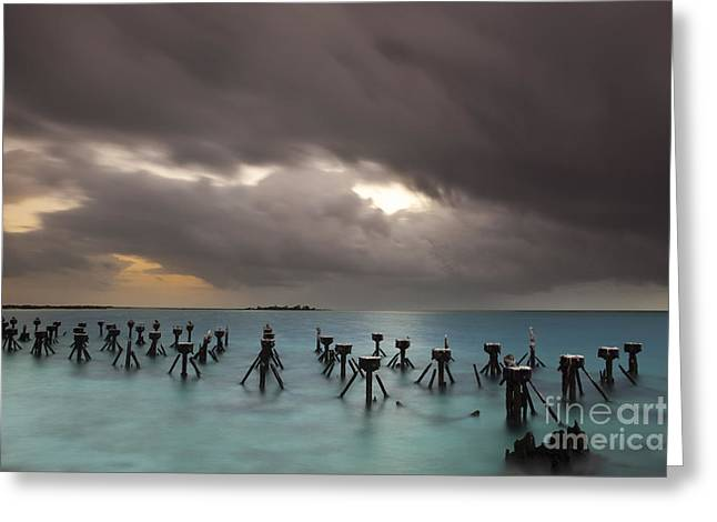Islamorada Greeting Cards - Old Pier in the Florida Keys Greeting Card by Keith Kapple