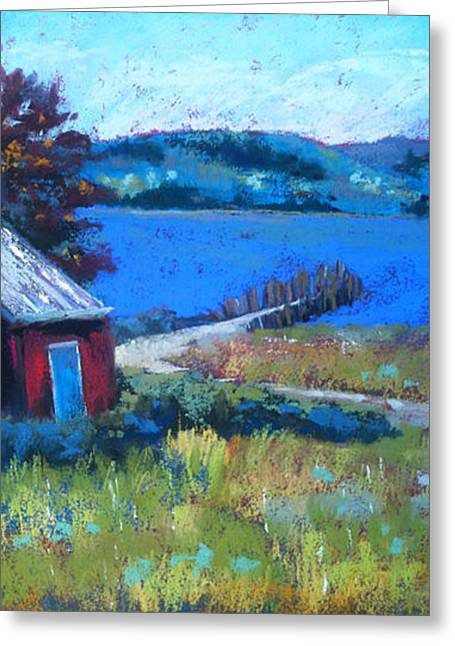 Shack Pastels Greeting Cards - Old Pier on Bear Lake Greeting Card by Sandra Ortega