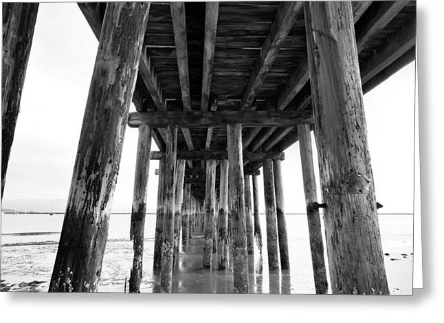 Santa Cruz Pier Greeting Cards - Old Pier Greeting Card by Scott Hill