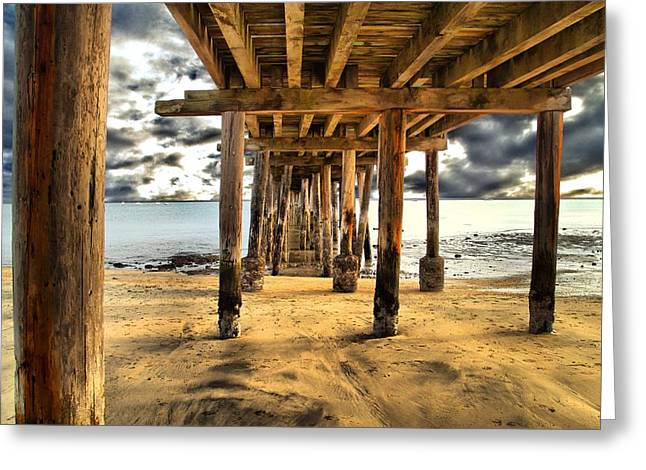 Old Pillar Point Pier Greeting Card by Scott Hill