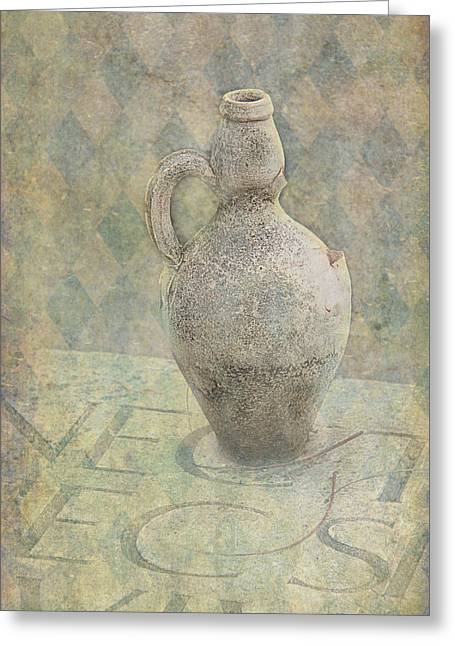 Muted Greeting Cards - Old Pitcher Abstract Greeting Card by Garry Gay