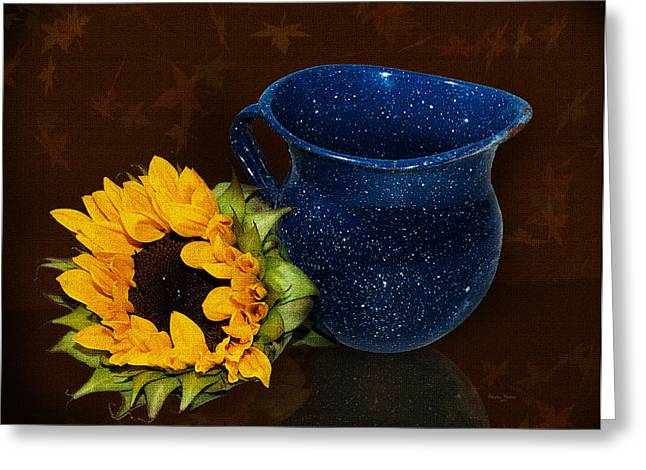Old Pitcher Greeting Card by Phyllis Denton