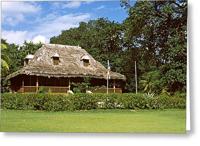 Thatch Greeting Cards - Old Plantation House On Lunion Estate Greeting Card by Panoramic Images