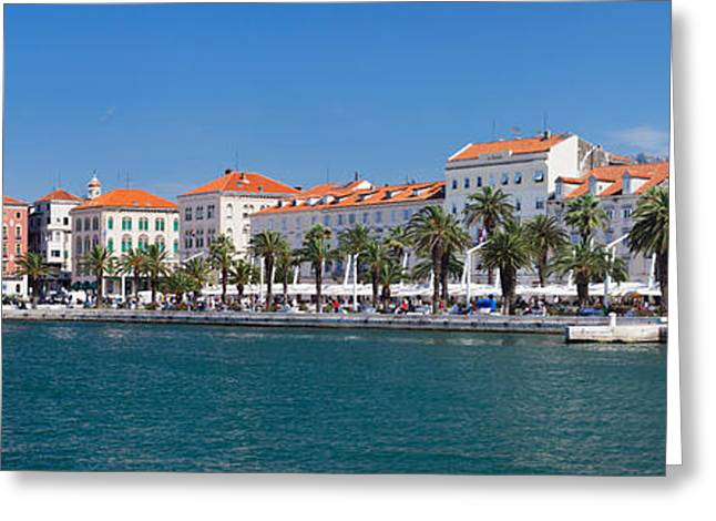 Adriatic Sea Greeting Cards - Old Port And Promenade, Split Greeting Card by Panoramic Images
