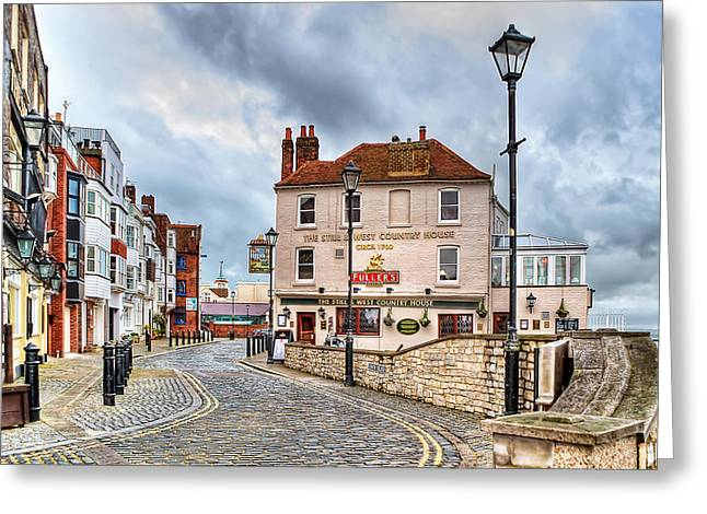 Old Inns Photographs Greeting Cards - Old Portsmouth Greeting Card by Trevor Wintle