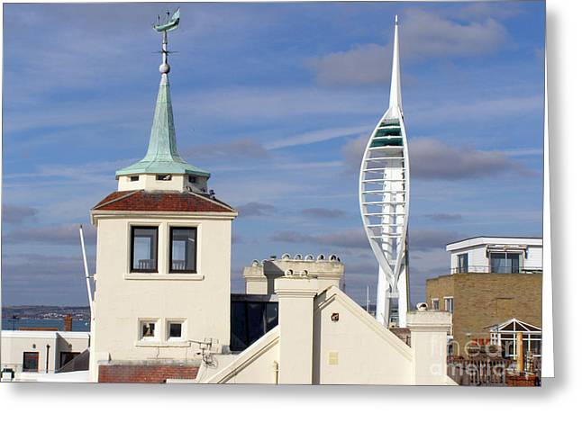 Terri Waters Greeting Cards - Old Portsmouths Towers Greeting Card by Terri  Waters