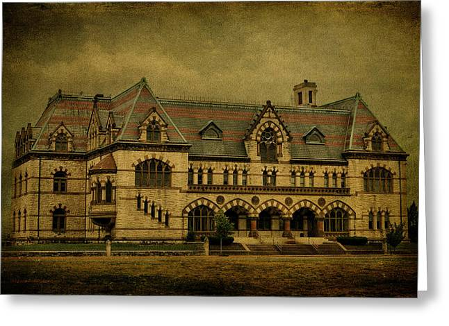 Architecture Textured Art Greeting Cards - Old Post Office - Customs House Greeting Card by Sandy Keeton