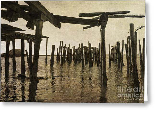 Provincetown Greeting Cards - Old Provincetown Wharf Greeting Card by David Gordon