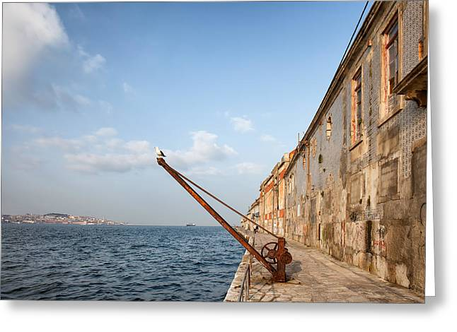 Quay Wall Greeting Cards - Old Quay in Portugal Greeting Card by Artur Bogacki