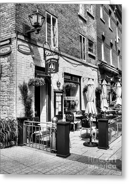 Quebec Restaurants Greeting Cards - Old Quebec City 18 Greeting Card by Mel Steinhauer