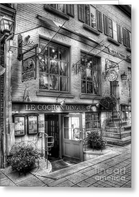 Window Display Greeting Cards - Old Quebec City 3 Greeting Card by Mel Steinhauer