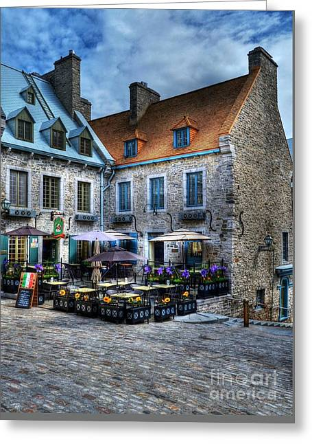 Old Quebec City Greeting Card by Mel Steinhauer