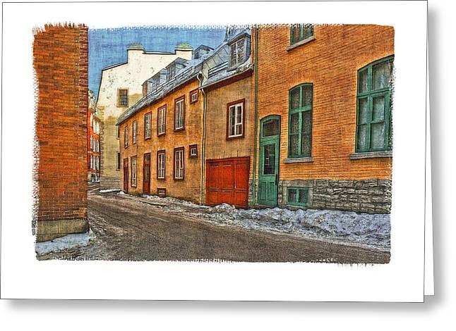Hamels Digital Greeting Cards - Old Quebec City Greeting Card by Roger Winkler