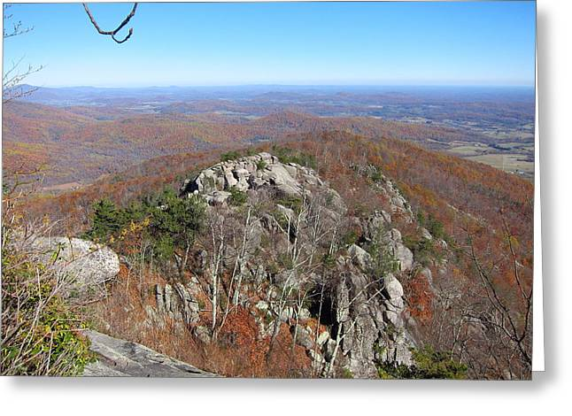 Hike Greeting Cards - Old Rag Hiking Trail - 121233 Greeting Card by DC Photographer