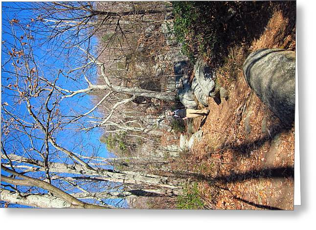 Blue Photographs Greeting Cards - Old Rag Hiking Trail - 121246 Greeting Card by DC Photographer