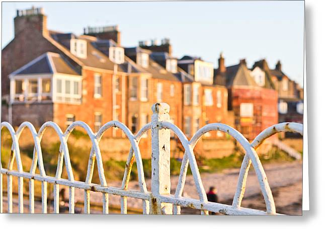 Beach Theme Abstract Greeting Cards - Old railings Greeting Card by Tom Gowanlock