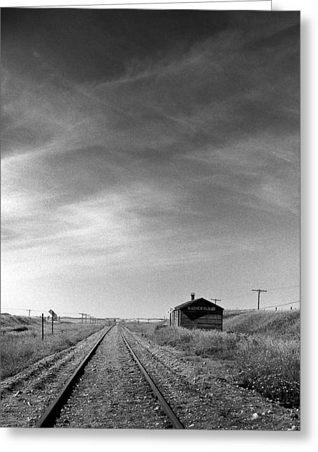 Mid West Landscape Art Greeting Cards - Old Railroad Station Greeting Card by Donald  Erickson