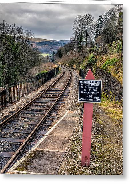 Signed Digital Greeting Cards - Old Railway Sign Greeting Card by Adrian Evans