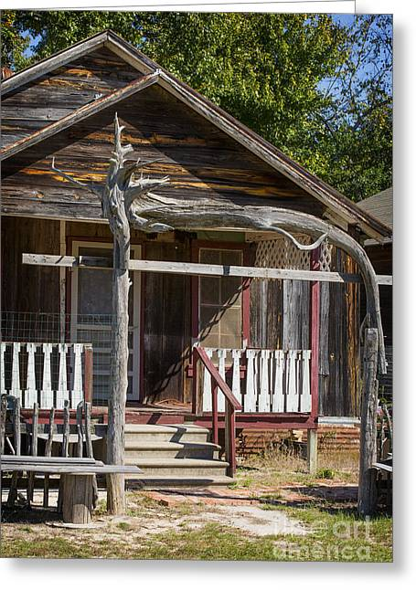Old Cabins Greeting Cards - Old Ranch Cabin In Antique Color 3008.02 Greeting Card by M K  Miller