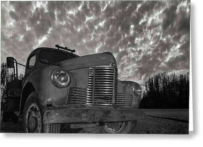 White Truck Greeting Cards - Old Red  Greeting Card by Aaron J Groen